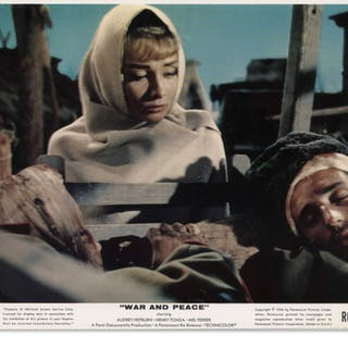 Audrey Hepburn Personally Owned 10'' x 8'' Lobby Card From ''War and