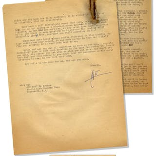 Hunter S. Thompson Letter Signed ''HST'', One of His First From South