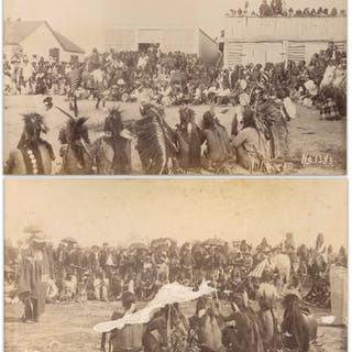 Two Original Sioux Photographs From 1891, Shortly After the Wounded