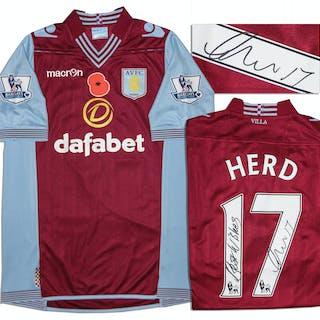 Aston Villa Jersey Worn & Signed By Chris Herd, #17