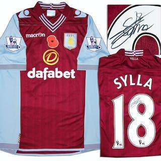 Aston Villa Jersey Worn & Signed By Yacouba Sylla, #18