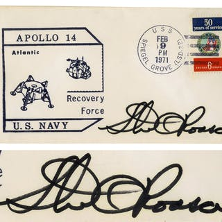 Stu Roosa Signed Apollo 14 FDC -- Postmarked 9 February 1971 from