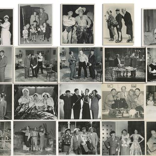 """Lot of Twenty 10"""" x 8"""" Glossy Photos With Shemp as Third Stooge, From"""