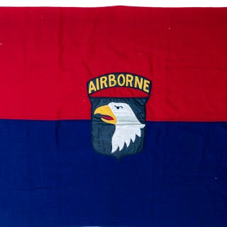 Scarce 101st Airborne Division Flag From WWII -- One of the Few Field