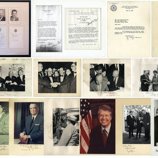 Large Lot of Presidential Signed Photos & Memorabilia - From Harry