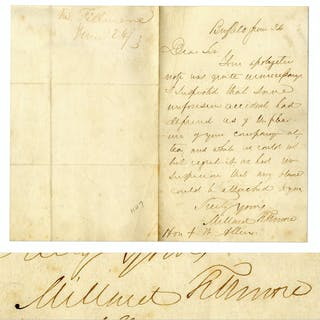 Millard Fillmore Autograph Letter Signed, Graciously Excusing a Colleague's