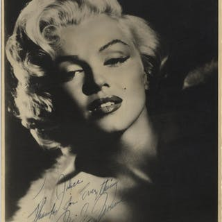 """Gorgeous Marilyn Monroe Signed Photo Measuring 7.625"""" x 9.5"""" -- With"""