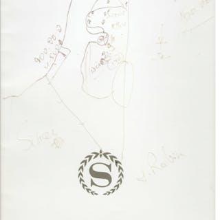 Yitzak Rabin Hand-Drawn & Signed Map of Israel -- Drawn During the