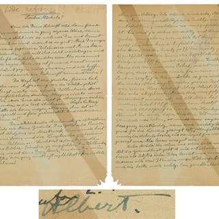 Albert Einstein Autograph Letter Signed From 1918, Predicting His
