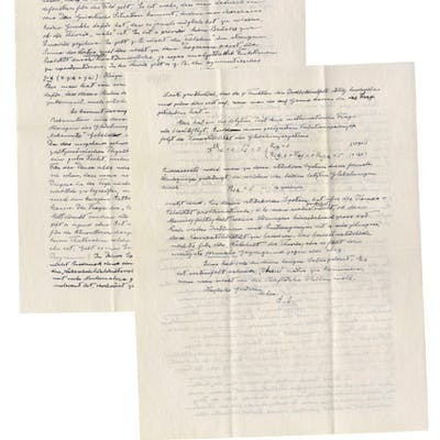 Albert Einstein Autograph Letter Signed on God & Unified Field Theory