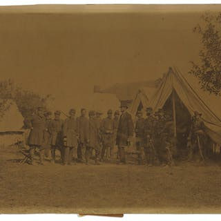 The Famous Civil War Photograph, ''Lincoln at Antietam'' -- Albumen