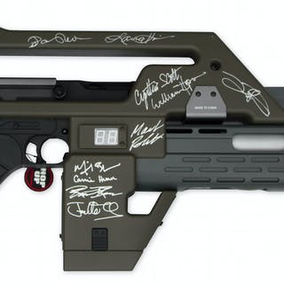 ''Aliens'' Cast Signed M41A Pulse Rifle -- Signed by 12 Key Cast Members