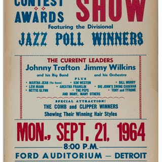 Aretha Franklin Concert Poster at Detroit's Ford Auditorium in 1964