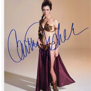 Carrie Fisher Signed 8'' x 10'' Photo as Princess Leia in ''Star Wars''