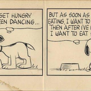 Charles Schulz Original Hand-Drawn ''Peanuts'' Strip -- 1965 Strip