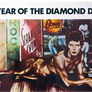David Bowie ''Diamond Dogs'' Poster From 1974 With the Famous Peelaert