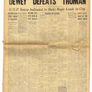 ''Dewey Defeats Truman'' Newspaper -- The Most Famous Newspaper Mistake