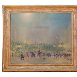 American Impressionist Johann Berthelsen Painting of New York City