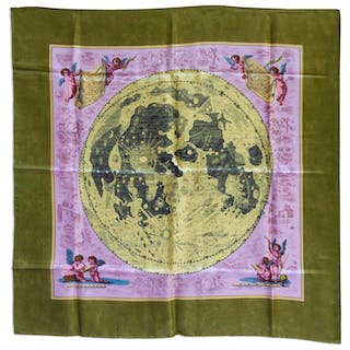 Beautiful Silk Scarf Given to Jack Swigert -- Scarf Has the First