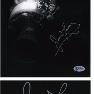 James Lovell Signed 8'' x 10'' Photo of the Apollo 13 Damaged Service Module