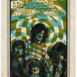 Rare Led Zeppelin Poster Measuring 12'' x 19'' for Their Show on 1