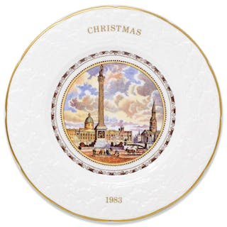 Margaret Thatcher Personally Owned Christmas Plate, Made of Porcelain