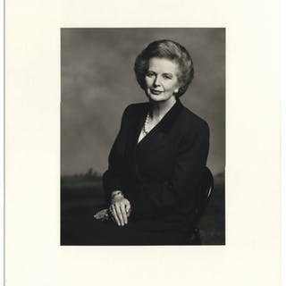 Large 9'' x 12'' Photograph of Margaret Thatcher, Taken by Terence