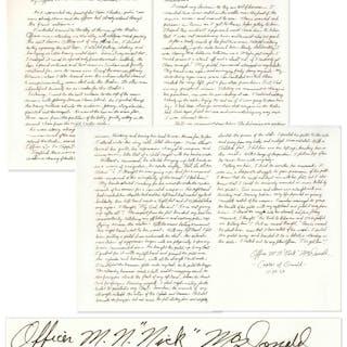 Lee Harvey Oswald Arrest Document Signed by Officer Nick McDonald