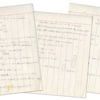 Richard Feynman Autograph Manuscript Entitled ''Conversation with