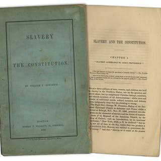 First Edition of ''Slavery and the Constitution'' by William Bowditch