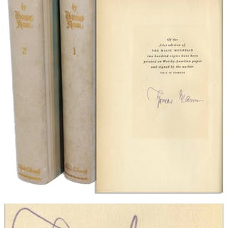 Thomas Mann Signed Limited First U.S. Edition of ''The Magic Mountain''