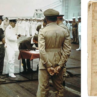 Original Draft of the WWII Japanese Instrument of Surrender From 6