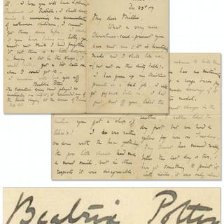 "Beatrix Potter Autograph Letter Signed -- ""…It is rather a shame to"