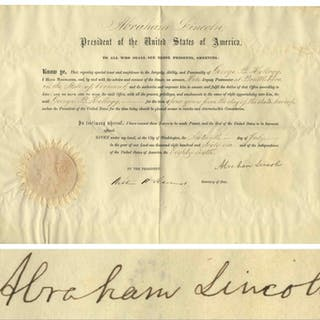 Abraham Lincoln Document Signed as President -- With Full ''Abraham