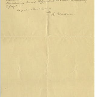 Albert Einstein Autograph Letter Signed From 1921 the Year of His