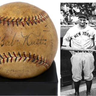 Yankees Team-Signed Ball From 1929, Featuring Babe Ruth's Signature