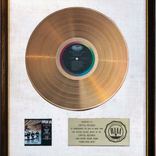 The Beatles RIAA White Matte Gold Award for ''Something New'' -- One