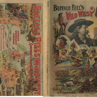 1895 Program for ''Buffalo Bill's Wild West'' Show -- Featuring Buffalo