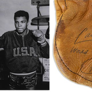 Muhammad Ali Signed Boxing Glove From the Early 1960s as Cassius Clay
