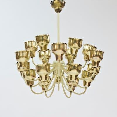 Brass chandelier by Hans Bergström