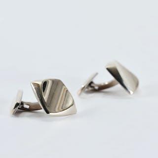 Silver cufflinks by Hermann Siersbøl