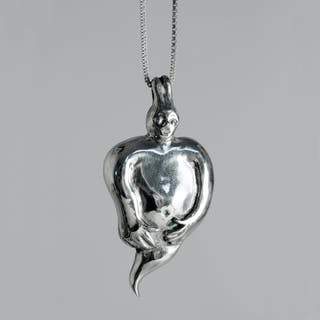 Silver necklace by Olle Ohlsson