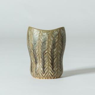 Unique stoneware vase by Carl-Harry Stålhane
