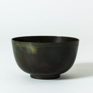 Patinated bronze bowl from GAB