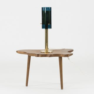 Brass and glass table lamp by Hans-Agne Jakobsson