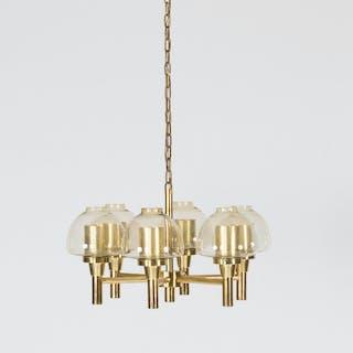 Brass chandelier by Hans-Agne Jakobsson