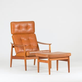 Lounge chair with ottoman by Arne Vodder