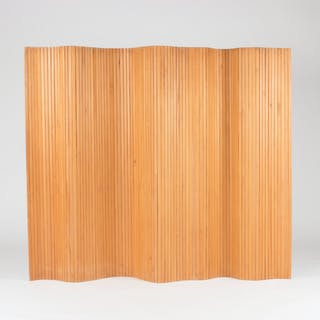 Pine wood room divider by Alvar Aalto