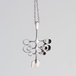 Silver pendant necklace by Bjørn Sigurd Østern
