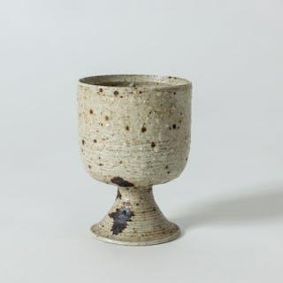 Stoneware goblet by Kyllikki Salmenhaara